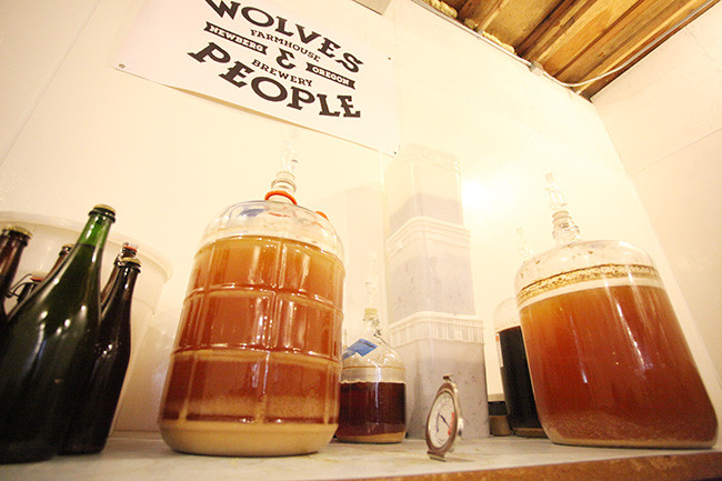 Cultures created from wild yeast collected on the adjoining farm of Wolves & People Farmhouse Brewery.