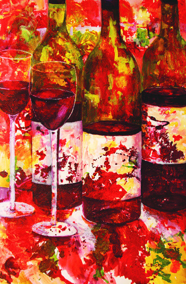 """Wine Emerging No. 3"" by Kathleen Buck"