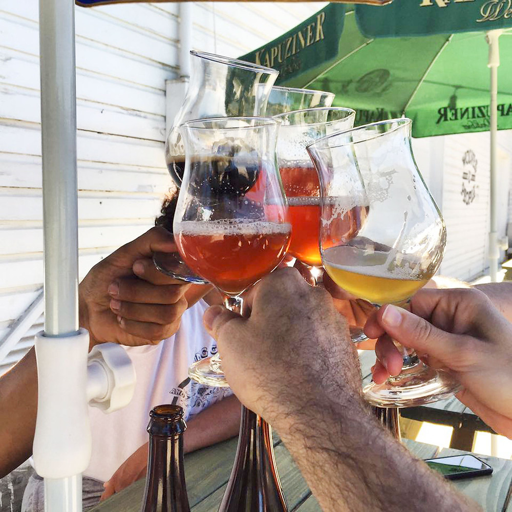 Cheers to a beer variety  //  Courtesy Wolves & People Farmhouse Brewery