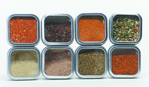 Hummingbird's Global Migration package, pictured, includes samples of seasonings from around the world and suggested recipes for all of them.