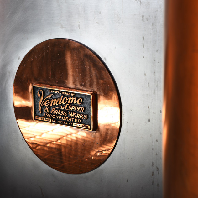 Branch Point uses stills straight from Louisville, Kentucky, hand built for Steven Day by Vendome Copper and Brass Works.