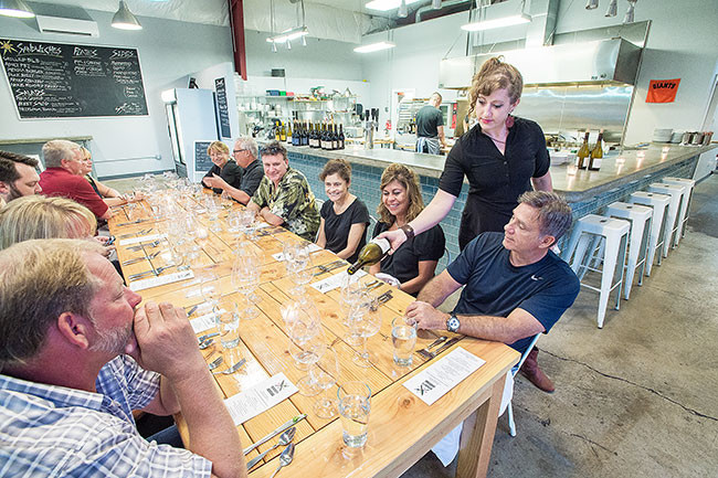 Winemaker's dinner at Valley Commissary in McMinnville / By Marcus Larson