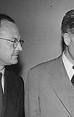 Owen Lattimore et Henry Wallace, vice-président USA