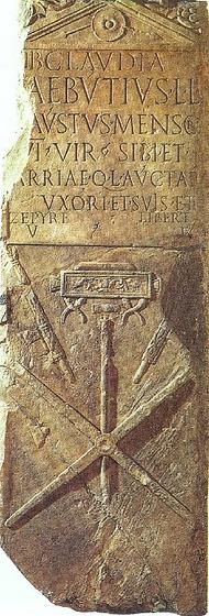 Pierre tombale de Lucius Aebutius Faustus, Mensor
