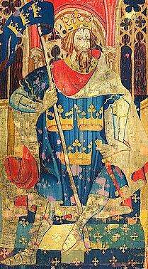 Le roi Arthur tapisserie vers 1385