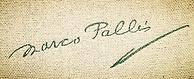 Marco Pallis signature