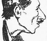 René Guénon. Croquis Jean Texcier