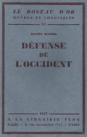 Défense de l'Occident Henri Massis