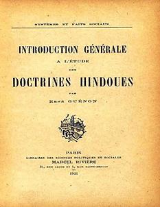 René Guénon Introduction générale doctrines hindoues