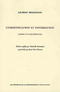 gilbert simondon communication et information