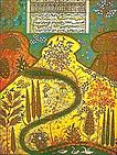 paysage manuscrit islamique