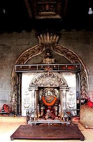 Centre du temple de Bagalâmukhî à Patan