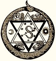 Emblème de la Hermetic Brotherhood of Luxor(H.B. of L.)