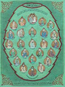 Vingt-cinq portraits de prophètes en médaillons