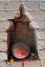 Pierre sacrée Népal