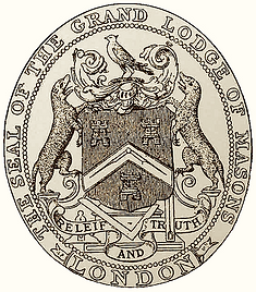 The seal of the grand lodge of masons London