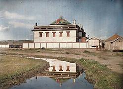 Monastère à Khuree, 1913 (autochrome Albert Kahn)