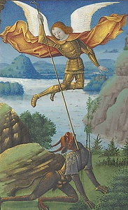 Archange St Michel tuant le démon