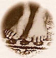 Mâ Ananda Mayî pieds