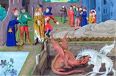les deux dragons Merlin Uther Pendragon