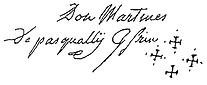 Signature de Martinez de Pasqually