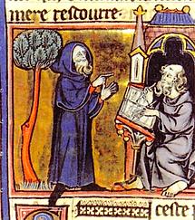 Merlin et Blaise (son secrétaire)