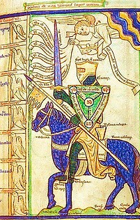 Chevalier allégorique combattant les 7 péchés capitaux