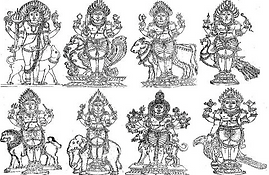 Les huit Bhairavas mineurs