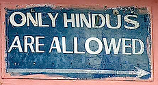Only hindus allowed