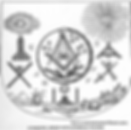 Tablier maçonnique avec symboles