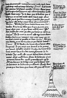 Le miroir des âmes Manuscrit Chantilly  XIVe