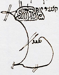 Signature du rabbin kabbaliste Haïm Joseph David Azoulay (Hida)