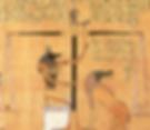 La psychostasis Anubis Maat et Ammit