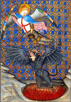 archange saint michel combattant le dragon