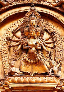 Taleju, porte d'or du Palais Royal (Bhaktapur)