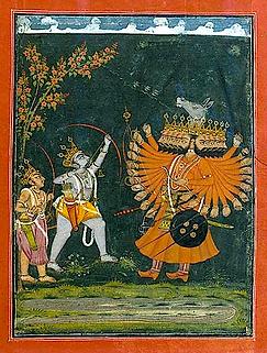 Bataille de Râma contre Râvanapng