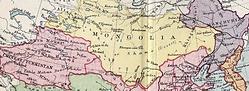 carte de mongolie