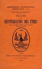 Traité de la réintégration des êtres