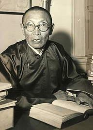 Le Tilopa Hutukhtu Jamsrangjab du monastère de Narobanchi, en 1949 aux États-Unis
