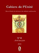 René Guénon - Cahiers de l'Unité N° 10