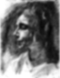 Portrait au crayon de Marie Huot par Aguéli