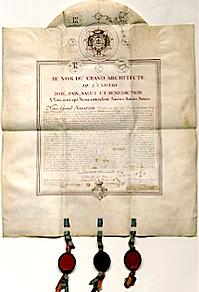 Diplôme de Réau Croix de Willermoz