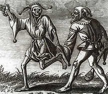 Le fou et la Mort gravure médiévale
