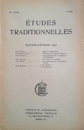 Etudes Traditionnelles. Michel Vâlsan