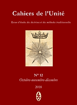 René Guénon - Cahiers de l'Unité N 12