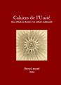 Cahiers de l'Unité - Recueil 2016