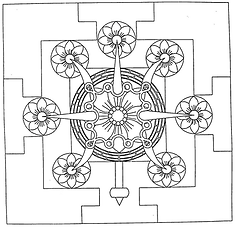Mandala Trika Tridents Lotus