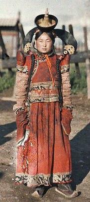 Femme mongole, 1913 (autochrome Albert Kahn)