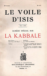 Le Voile d'Isis La Kabbale