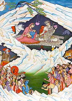 Shiva et Pârvatî mont Kailash
